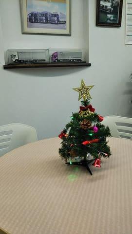 来客テーブル クリスマスツリー